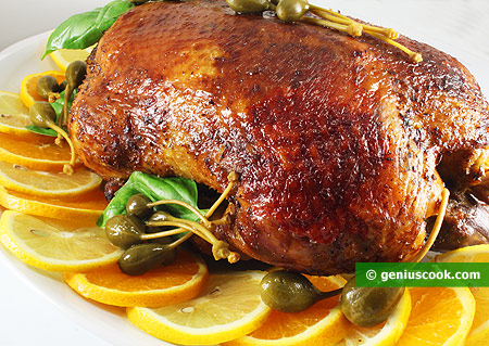 Baked Duck Stuffed with Apples