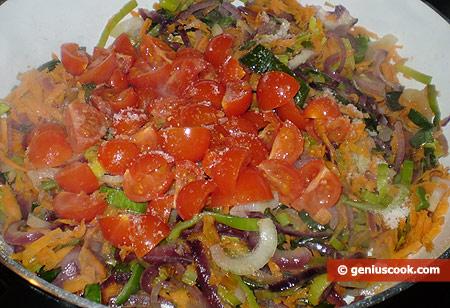 add cut-up tomatoes