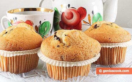 Honey Muffins with Chocolate Shavings