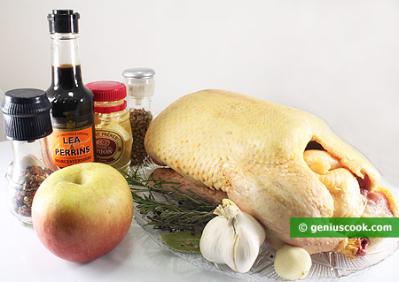 Ingredients for Duck Stuffed with Apples