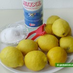 Ingredients for Liqueur Limoncello