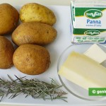 Ingredients for French Potato with Cream