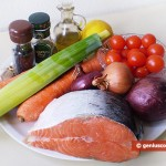 Ingredients for Fish with Vegetables
