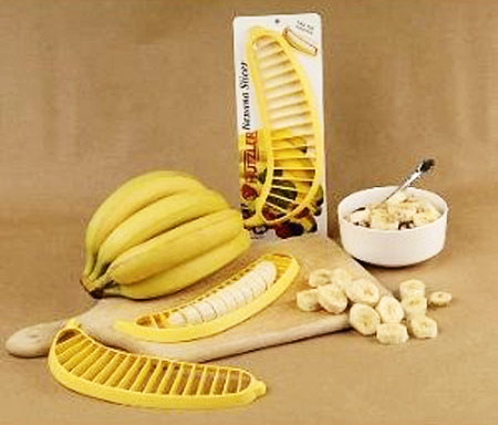 Knife for quick cutting of bananas