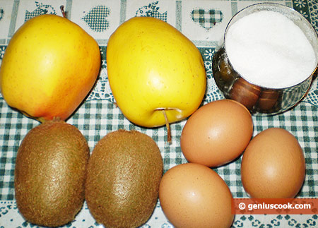 Ingredients for Meringue Roll