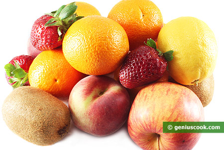 Ingredients for Fruit Salad Macedonia