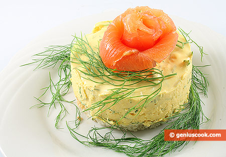 Carrot Cheesecakes with Smoked Salmon