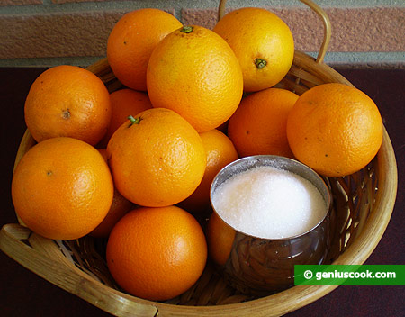 Ingredients for Orange Sorbet