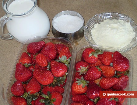Ingredients for Strawberry Ice Cream