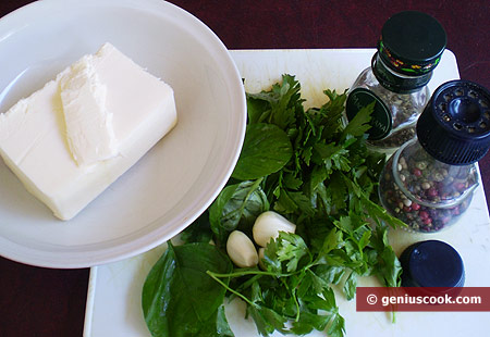 Ingredients for Green Aromatic Butter