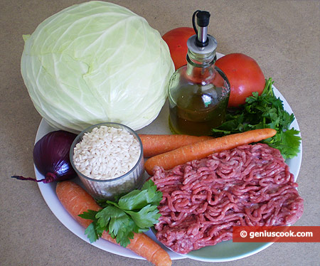 Ingredients for Stuffed Cabbage Leaves