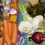Ingredients for Korean Carrot Salad