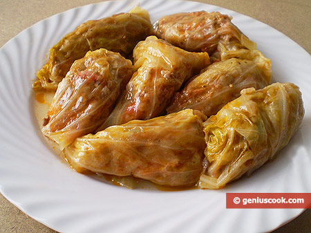 Home-Made Stuffed Cabbage Leaves