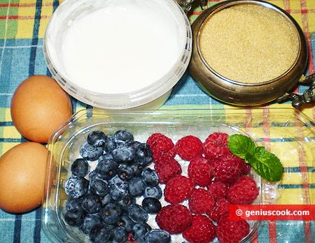 Ingredients for Berry Semifreddo