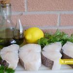 Ingredients for Cod Salad