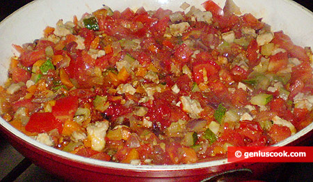 add tomato paste and tomatoes