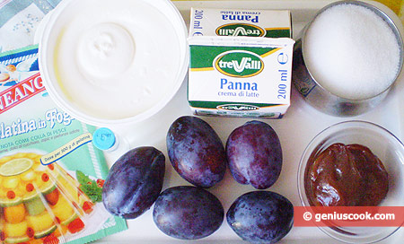 Ingredients for Panna Cotta with Dulce de Leche