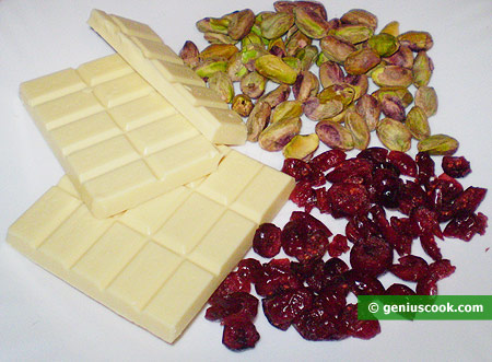 Ingredients for Chocolate with Cranberries and Pistachios