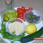 Ingredients for Oriental Couscous Salad