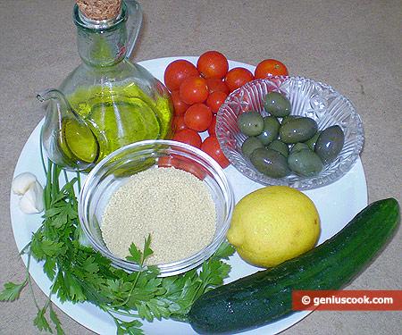Ingredients for Oriental Couscous Salad