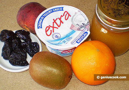 Ingredients for Yoghurt with Fruits
