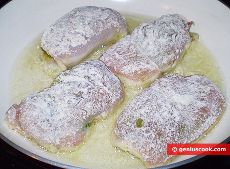 Cutlets in a pan