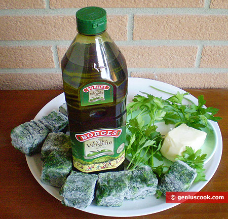 Ingredients for Spinach with Cheese