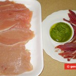 Ingredients for Chicken Cutlet with Ham and Pesto