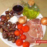 Ingredients for Stewed Pork with Chestnuts