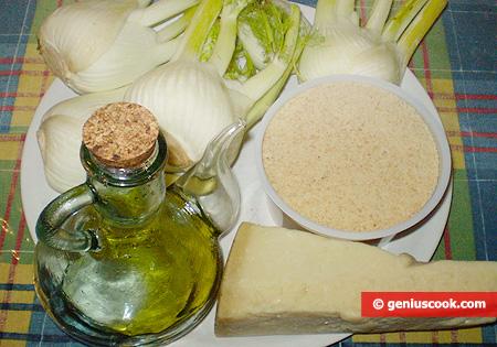 Ingredients for Fennel Au Gratin