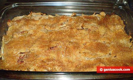 Ready baked au gratin with a crispy crust