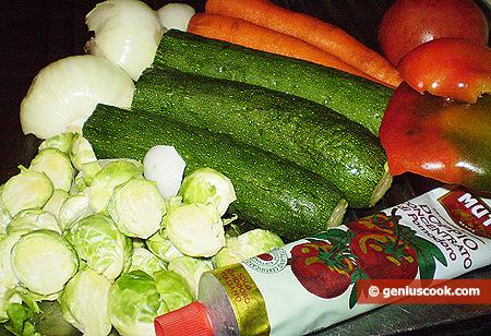 Ingredients for Vegetable Ragout