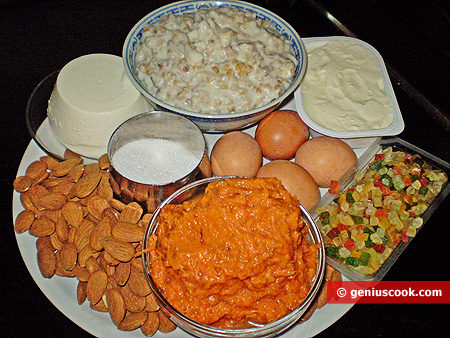 Ingredients for Cake Pumpkin Pastiera