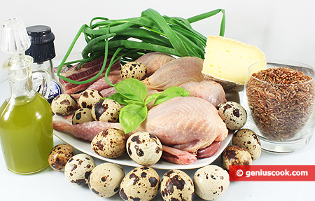 Ingredients for Quail's Nest