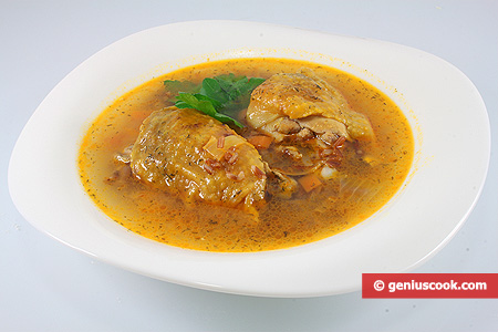 Guinea Fowl Soup with Brown Rice