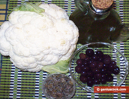 Ingredients for Cauliflower with Olives and Capers