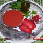 Ingredients for Conger in Tomato Sauce