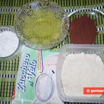 Ingredients for Chocolate Almond Cookies