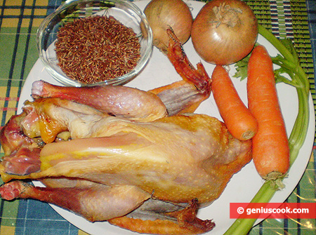 Ingredients for Guinea Fowl Soup