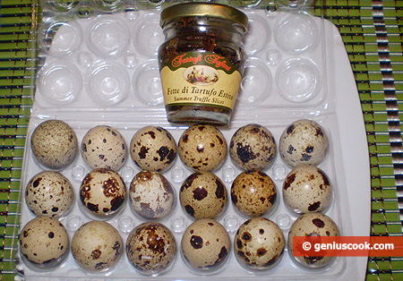Ingredients for Truffle Omelet with Quail Eggs
