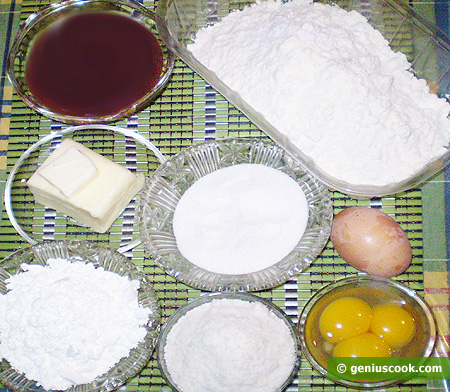 Ingredients for Cookies Alfajores