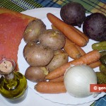Ingredients for Red Beetroot Salad Vinegrette with Salmon