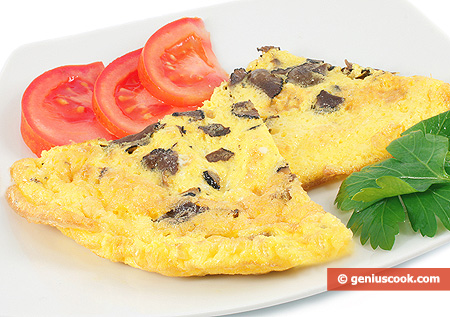 Truffle Omelet with Quail Eggs