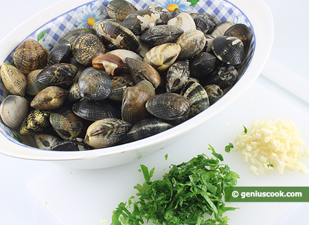 Ingredients for Spaghetti with Clam