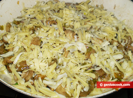 Drizzle over with grated cheese