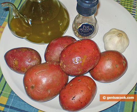Ingredients for baked potatoes in Swedish Way