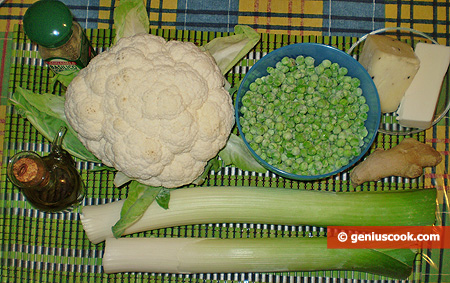 Ingredients for Cream of Cauliflower Soup