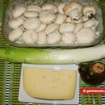 Ingredients for Mushrooms with Leek