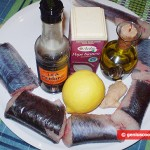 Ingredients for Marinated Fried Eel