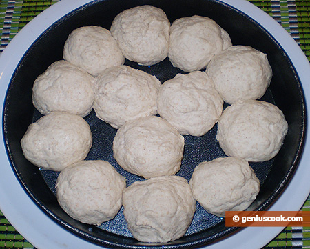 Balls of dough in the form